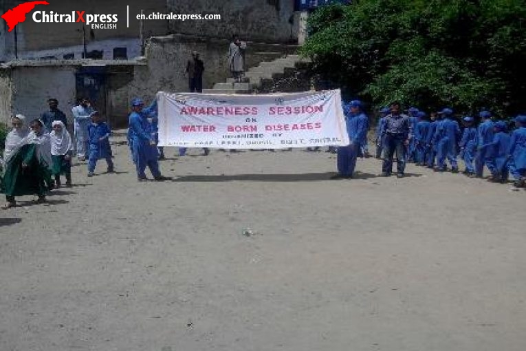 4th Awareness campaign on water borne diseases at Drosh